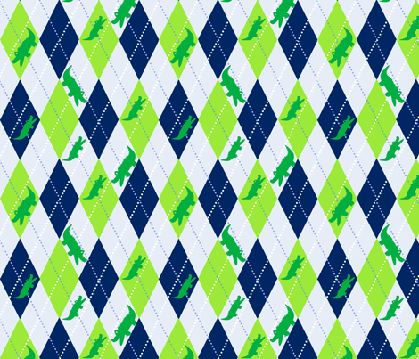 Argyle Alli Blue fabric by olioh on Spoonflower - custom fabric