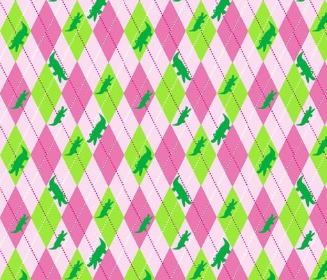Argyle Alli Pink fabric by olioh on Spoonflower - custom fabric