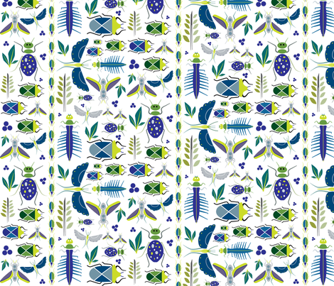 Bugs fabric by twenty8dots on Spoonflower - custom fabric