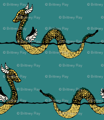 Golden Sea Serpent