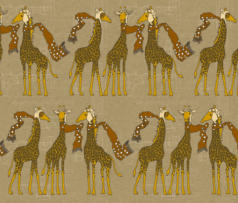flightschool_safari_linen fabric by holli_zollinger on Spoonflower - custom fabric