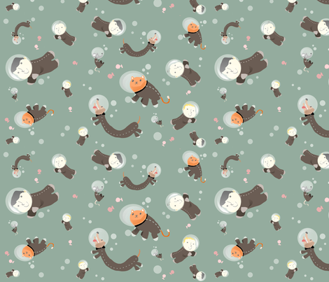 babyboys and pets fabric by kobaitchi on Spoonflower - custom fabric