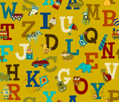 Alphabet Soup fabric by hayley_sayles on Spoonflower - custom fabric