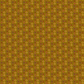 rust/yellow flowers (on khaki)