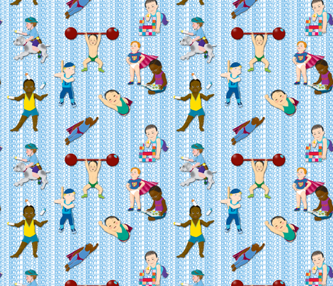 Boy-O-Boy-O-Boy! (Baby Boy Contest) fabric by tallulahdahling on Spoonflower - custom fabric