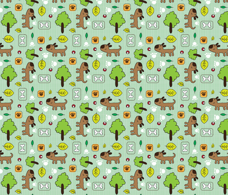 Best Buddy fabric by tradewind_creative on Spoonflower - custom fabric