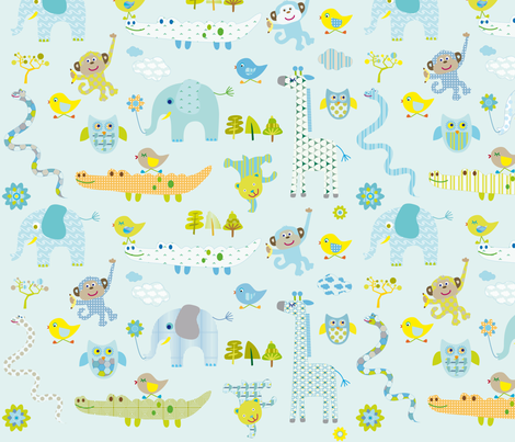 BestFriends fabric by ingaf on Spoonflower - custom fabric