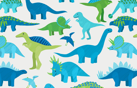 Dinosaur Friends fabric by beth_sobel on Spoonflower - custom fabric