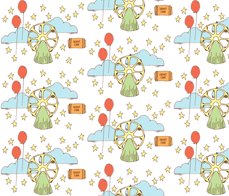 Baby Boy Ferris Wheels fabric by sparegus on Spoonflower - custom fabric