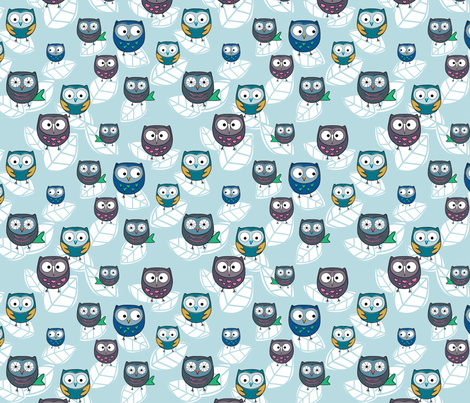 owls fabric by msapulina on Spoonflower - custom fabric