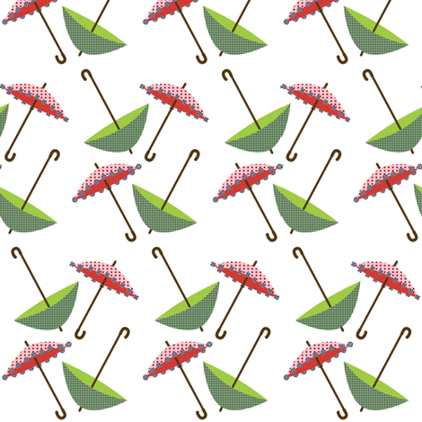 candy rain umbrellas fabric by krihem on Spoonflower - custom fabric