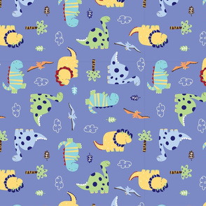 Dino_Land_Fabric_design