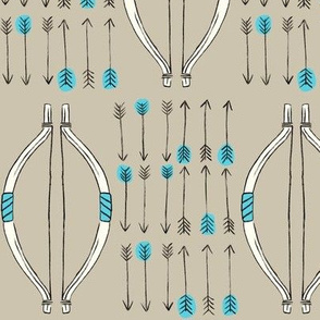 Bow & Arrow - Teal