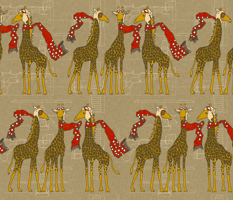flightschool_safari_red fabric by holli_zollinger on Spoonflower - custom fabric