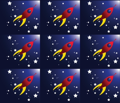 Starship_Dreams fabric by stacysix on Spoonflower - custom fabric