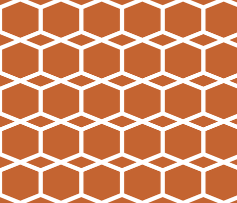 Modern Lattice BurntOrange fabric by dolphinandcondor on Spoonflower - custom fabric