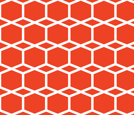 Modern Lattice Red fabric by dolphinandcondor on Spoonflower - custom fabric