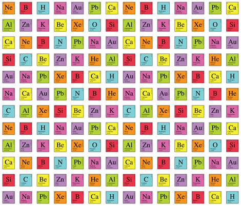 Elementary Periodic fabric by robyriker on Spoonflower - custom fabric