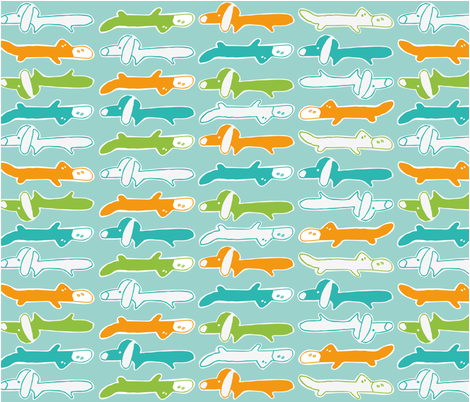 Platypups fabric by rockin'_juke on Spoonflower - custom fabric