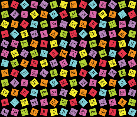 Topsy Turvy Periodic (Dark) fabric by robyriker on Spoonflower - custom fabric