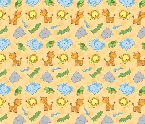 baby_jungle fabric by missvautour_ on Spoonflower - custom fabric