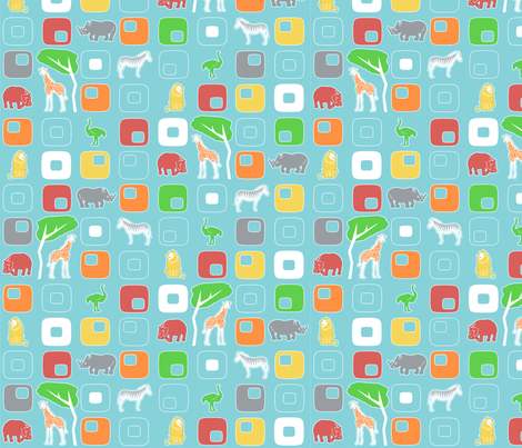 Geo Safari fabric by mandyd on Spoonflower - custom fabric