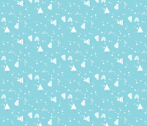 snow_igloo fabric by juliannlaw on Spoonflower - custom fabric