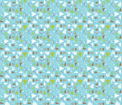 snow_npole fabric by juliannlaw on Spoonflower - custom fabric