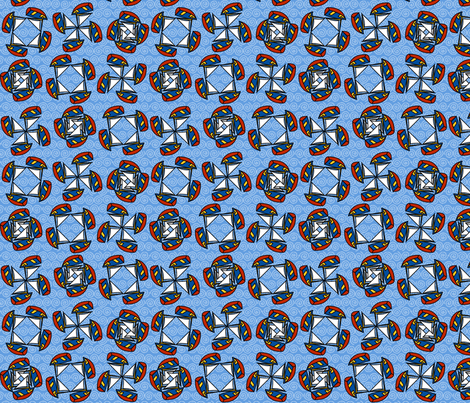 ©2011 wlbamo-sailboats fabric by glimmericks on Spoonflower - custom fabric