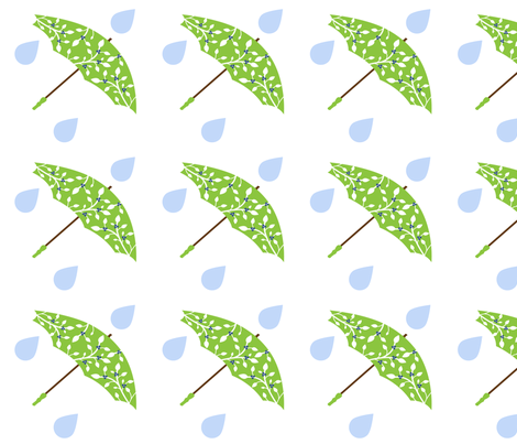 Blueberry Brolly Big Rain Drops fabric by stacysix on Spoonflower - custom fabric