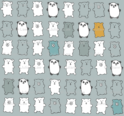 bears in gray