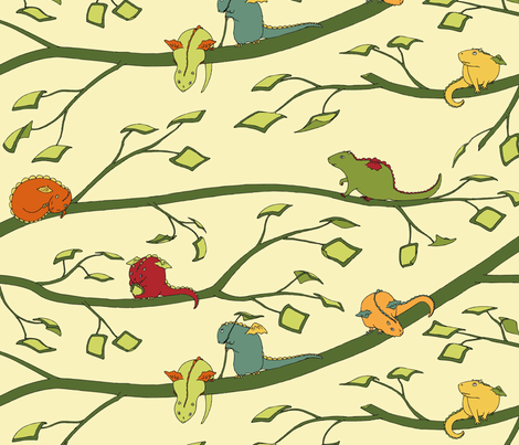 Baby Dragons Can't Fly fabric by meduzy on Spoonflower - custom fabric