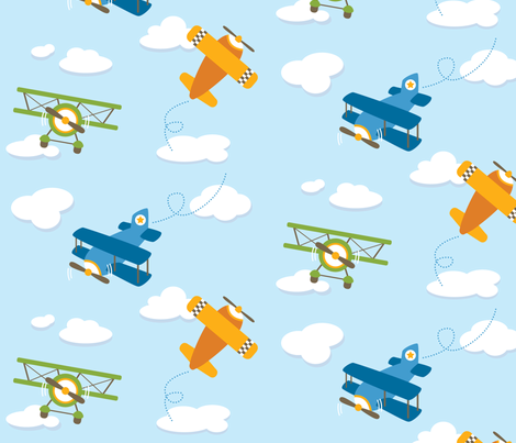 Up & Away fabric by estumbo on Spoonflower - custom fabric