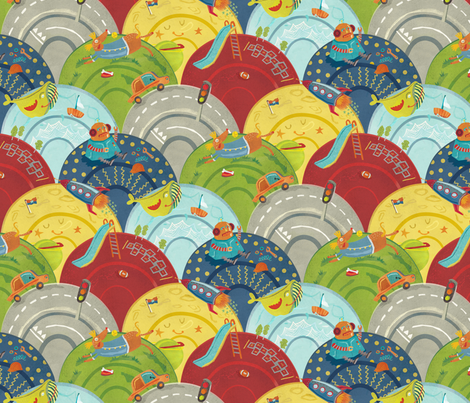 What boy's do fabric by teken-ing on Spoonflower - custom fabric