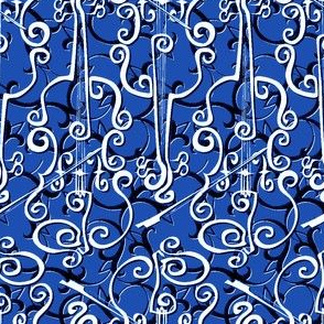 Violin Adante Flourish Royal White - CUSTOMER PROOF
