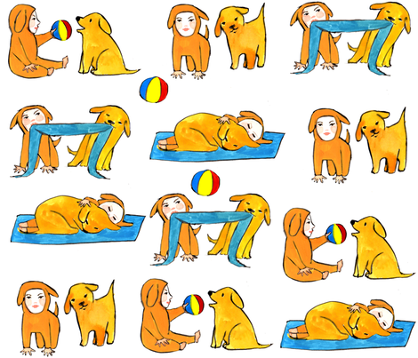 puppy_friends fabric by cinqchats on Spoonflower - custom fabric
