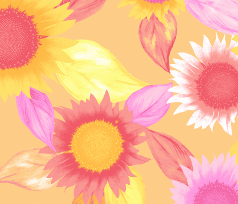 sunflower, gold fabric by neatdesigns on Spoonflower - custom fabric