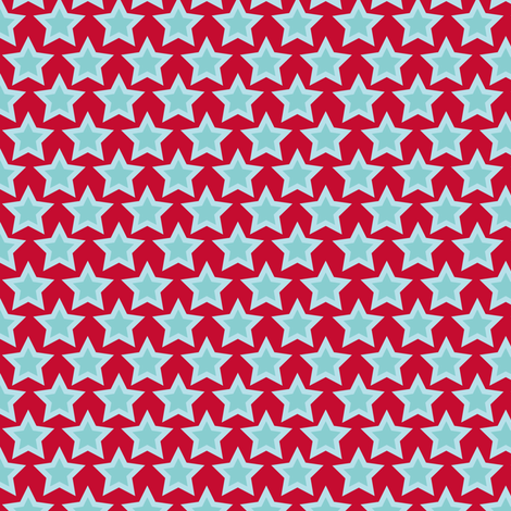 Project Selvage - blue star fabric by verycherry on Spoonflower - custom fabric
