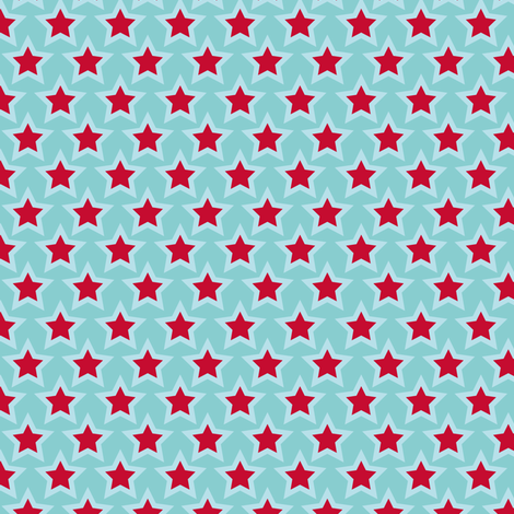 Project Selvage - red star fabric by verycherry on Spoonflower - custom fabric