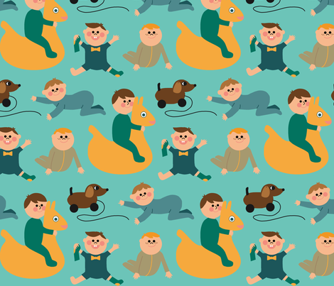 Oh boy fabric by nadjagirod on Spoonflower - custom fabric