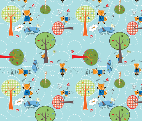 The Quick Brown Fox fabric by gwen&ink on Spoonflower - custom fabric