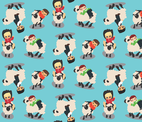 Mutton Busters fabric by rebeccaroach on Spoonflower - custom fabric