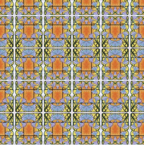 morning  glory checks fabric by edsel2084 on Spoonflower - custom fabric