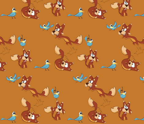 fox fabric by marsmacdivitt on Spoonflower - custom fabric