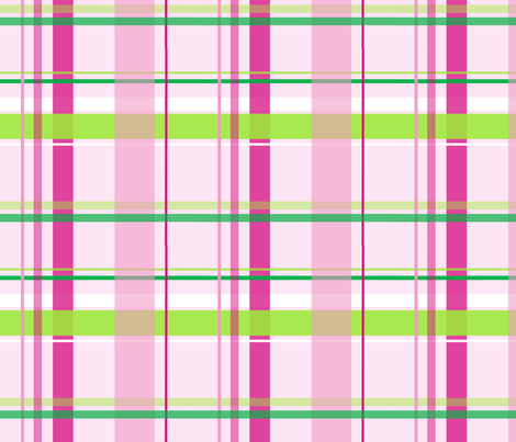 alli_plaid_pink fabric by olioh on Spoonflower - custom fabric