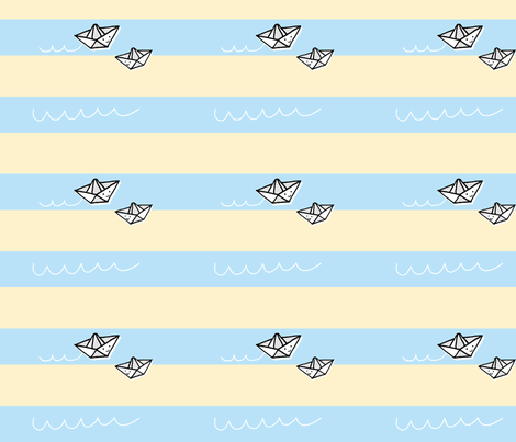 Little Paper Boats fabric by anda on Spoonflower - custom fabric