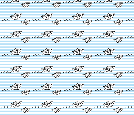 Stripe Boats fabric by anda on Spoonflower - custom fabric