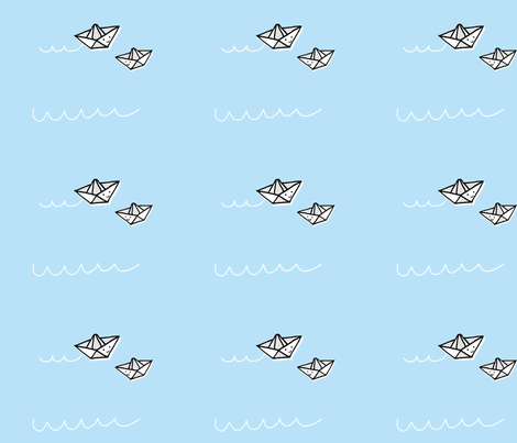 Paper Boats fabric by anda on Spoonflower - custom fabric