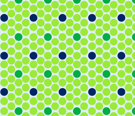 alli_dots_green fabric by olioh on Spoonflower - custom fabric