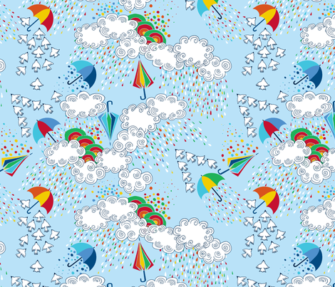 dance_de_la_pluie fabric by nadja_petremand on Spoonflower - custom fabric